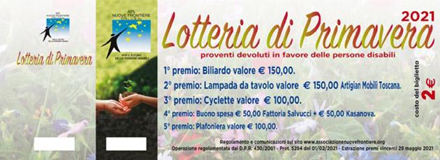 – Lotteria di Primavera 2021